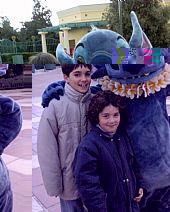 Atonio y Blas Gálvez Villalobos en Disney Paris