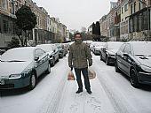 José Carlos haciendo la compra en Bremen