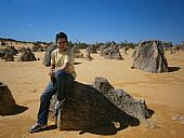 Pinnacles, bosque petrificado cerca de Perth (Australia)