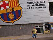 David en la ciudad deportiva del F.C. Barcelona