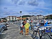 Francisco y Mari Flor en Plentzia, Vizcaya