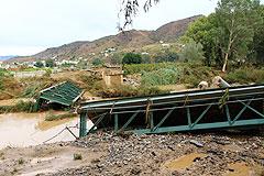 El municipio de Álora sufre una de las peores inundaciones de su historia