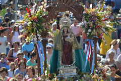 La Virgen de Flores regresa a su Santuario