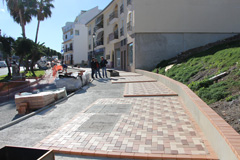 El Alcalde visita las obras de remodelación en la Avda. Ruiz Picasso