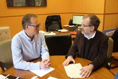 El Alcalde recibe la visita del diputado Gonzalo Sichar