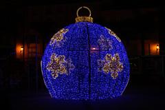 �lora brilla con el encendido del alumbrado de Navidad