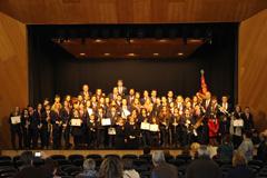 Entrega de diplomas a los nuevos integrantes de la Banda de Música